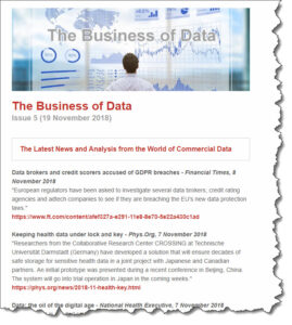 business of data newsletter
